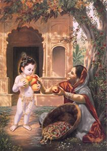 Krishna Blesses Fruit Vendor